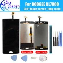 Doogee BL7000 LCD 디스플레이 + 터치 스크린 Doogee BL7000 + tool + adhesive 용 100% 기존 LCD 디지타이저 유리 패널 교체.
