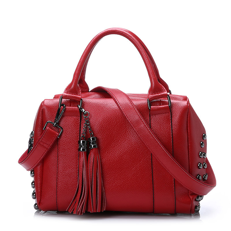 high quality women genuine leather bags handbags casual women's tote tassel shoulder bag brand real cow leather handbag zao essence of nature zao essence of nature za005lwdqh82