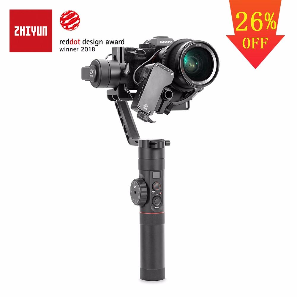 ZHIYUN Officielles Grue 2 3-Axe stabilisateur de cardan pour Tous Les Modèles de DSLR appareil photo compact Canon 5D2/3/4 avec Servo Follow Focus