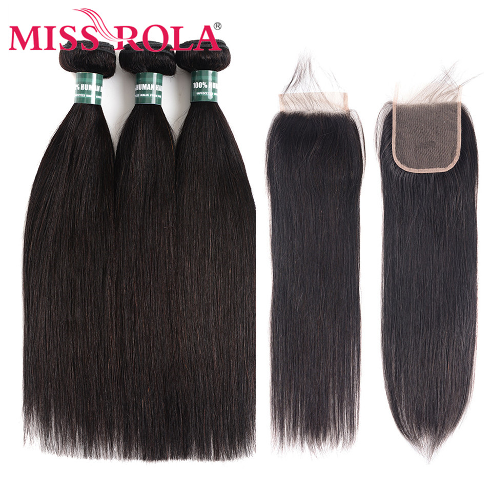 Miss Rola Hair Non Remy Straight Malaysia Hair Weave Bundles 100 Human Hair 3 Bundles With