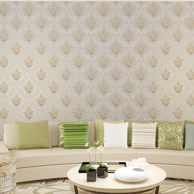 New Pastoral Floral 3d Wallpaper Non-woven Wall Paper for walls Mural Papier Peint papel de parede 3d para sala atacado LY042 modern luxury wallpaper 3d wall mural papel de parede floral photo wall paper ceiling murals photo wallpaper papier peint behang