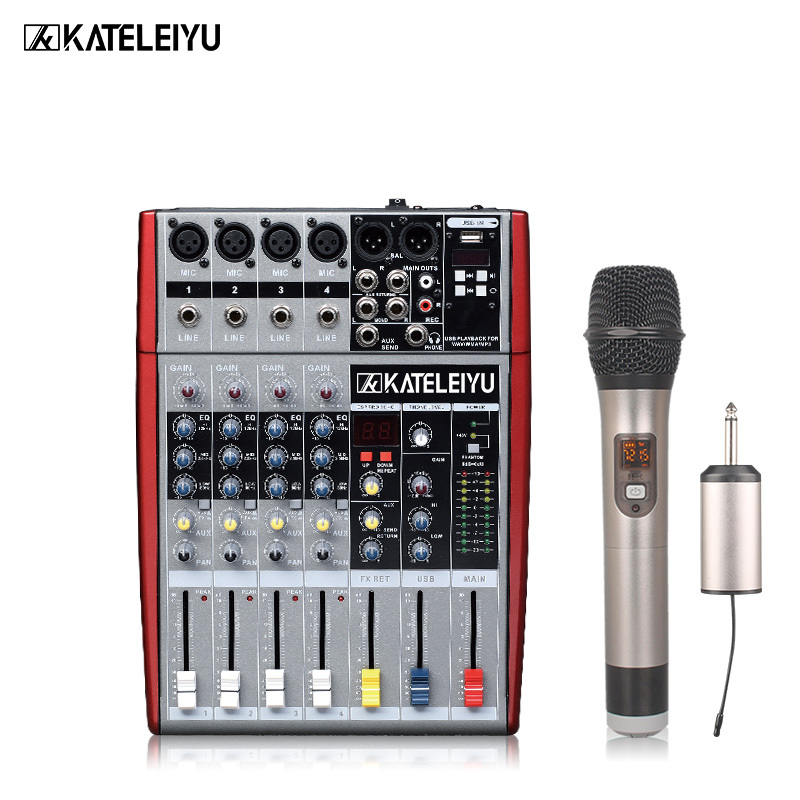 Professional DJ mixer W6000T4 (4 mono + 2 stereo) 16 DSP USB DJ mixer freeboss me82 ultra low noise 4 mono 2 stereo 8 channels 16 dsp usb professional dj audio mixer console