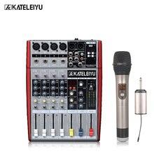 цена на Professional DJ mixer W6000T4 (4 mono + 2 stereo) 16 DSP USB DJ mixer