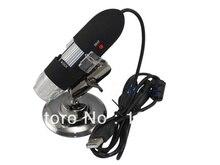 Cheapest prices 25-200x Mini USB zoom digital microscope with white LED illumination- black