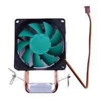 Green Copper Aluminum CPU Cooling Cooler Fan Heat Pipe Double Copper Heatpipe Heat Sink Hydraulic Bearing