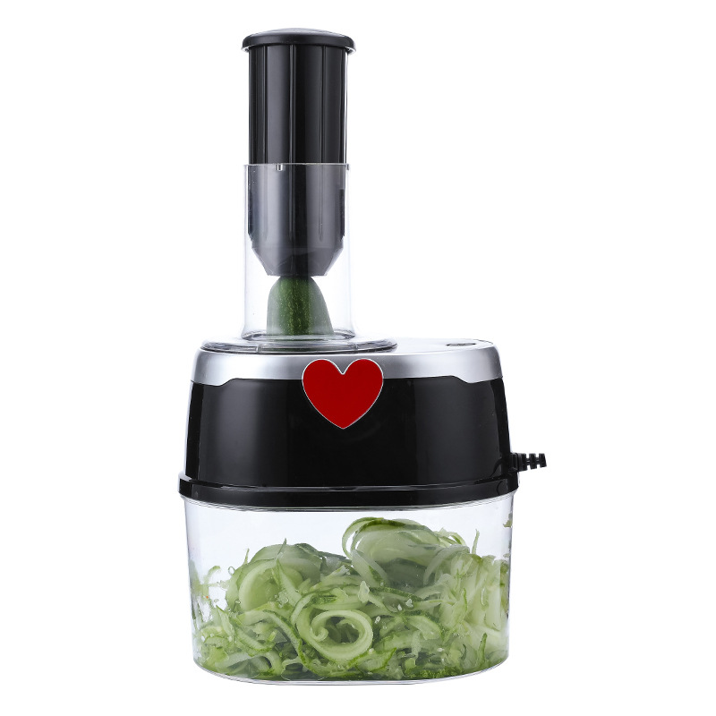 Electric Multifunctional Vegetable Cutter Stainless Steel Chopper Blades Kitchen Tool Spiral Vegetable Cutter Salad Maker 1