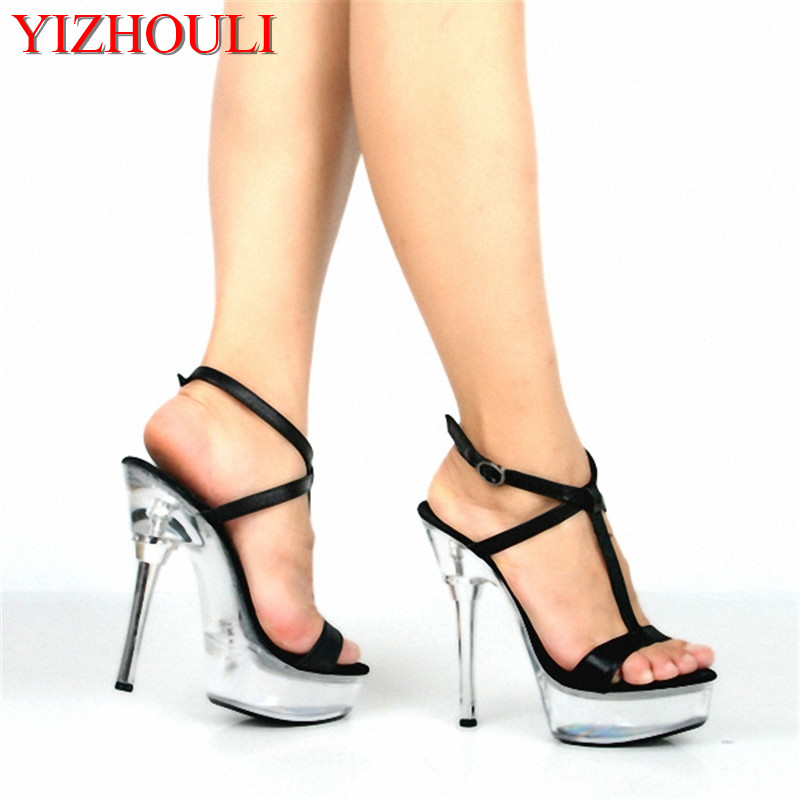Fashion Style 14cm Dinner Party Shoes Thick Bottom Nightclubs High Heels And Sandals Dance Shoes