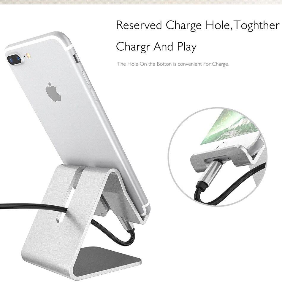 Holder Desk Mount Stand for Samsung Iphone Aluminium Alloy Desktop Tablet Adjustable Hinge Holder for fly/huawei/cubot/huawei