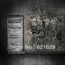 Grey Relic Wall 8'x8′ CP Computer-painted Scenic Photography Background Photo Studio Backdrop ZJZ-636