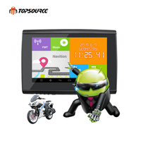 TOPSOURCE 2017 2 IN 1 5 IP67 Waterpoof Motorcycle gps Navigation Car gps navigator Android 4.4.2 Cars WIFI 512M 8GB Bluetooth