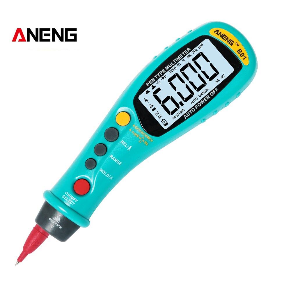 ANENG B01 Pen tipo multímetro Digital Auto sonó verdadero RMS NCV 6000 Counts AC/DC voltaje medidor electrónico