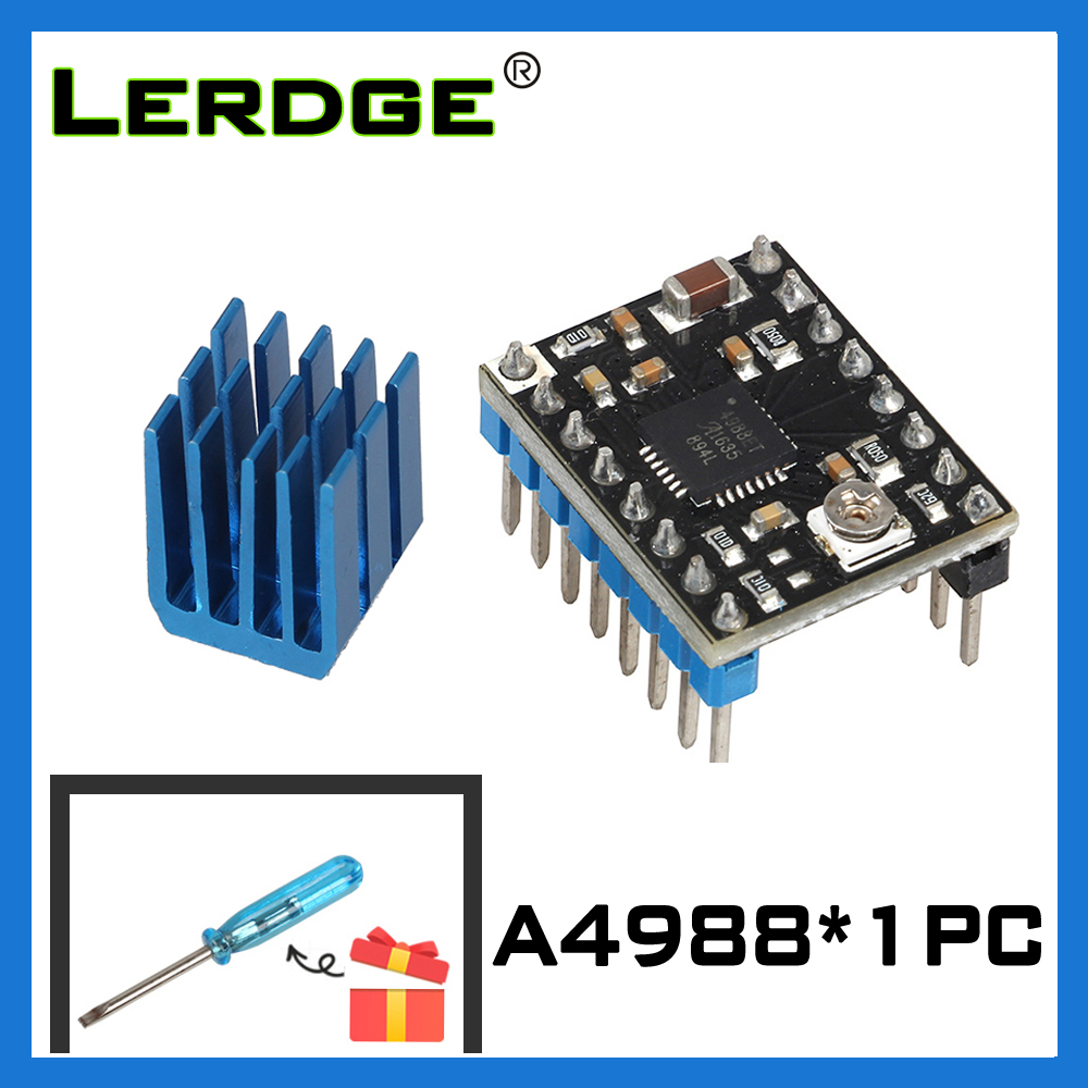 LERDGE A4988 Stepper Motor Driver Module With New Aluminum HeatSink  3d Printer Parts 1PCS