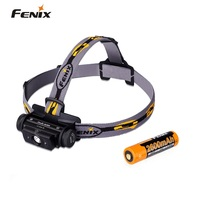 New Arrival Fenix HL60R Dual Light Source Rechargeable Micro USB T6 LED Headlamp with 18650 Battery