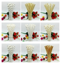 25pcs/lot Foil Gold /Silver/ Design Paper Straws kids birthday wedding decoration party supplies bachelorette baby shower