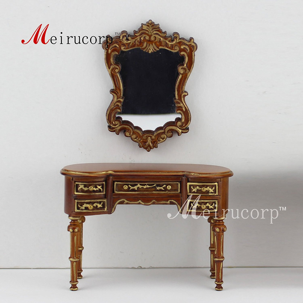 1:12 scale Fine dollhouse miniature furniture Handmade Excellent dressing table fine dollhouse 1 12 scale special offer miniature furniture painted dressing table