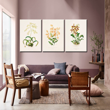 1Pcs Watercolor Plant leaves Canvas Art Print Poster Nordic Green Flowers leaf rural Wall Pictures for Home Decor Artwork