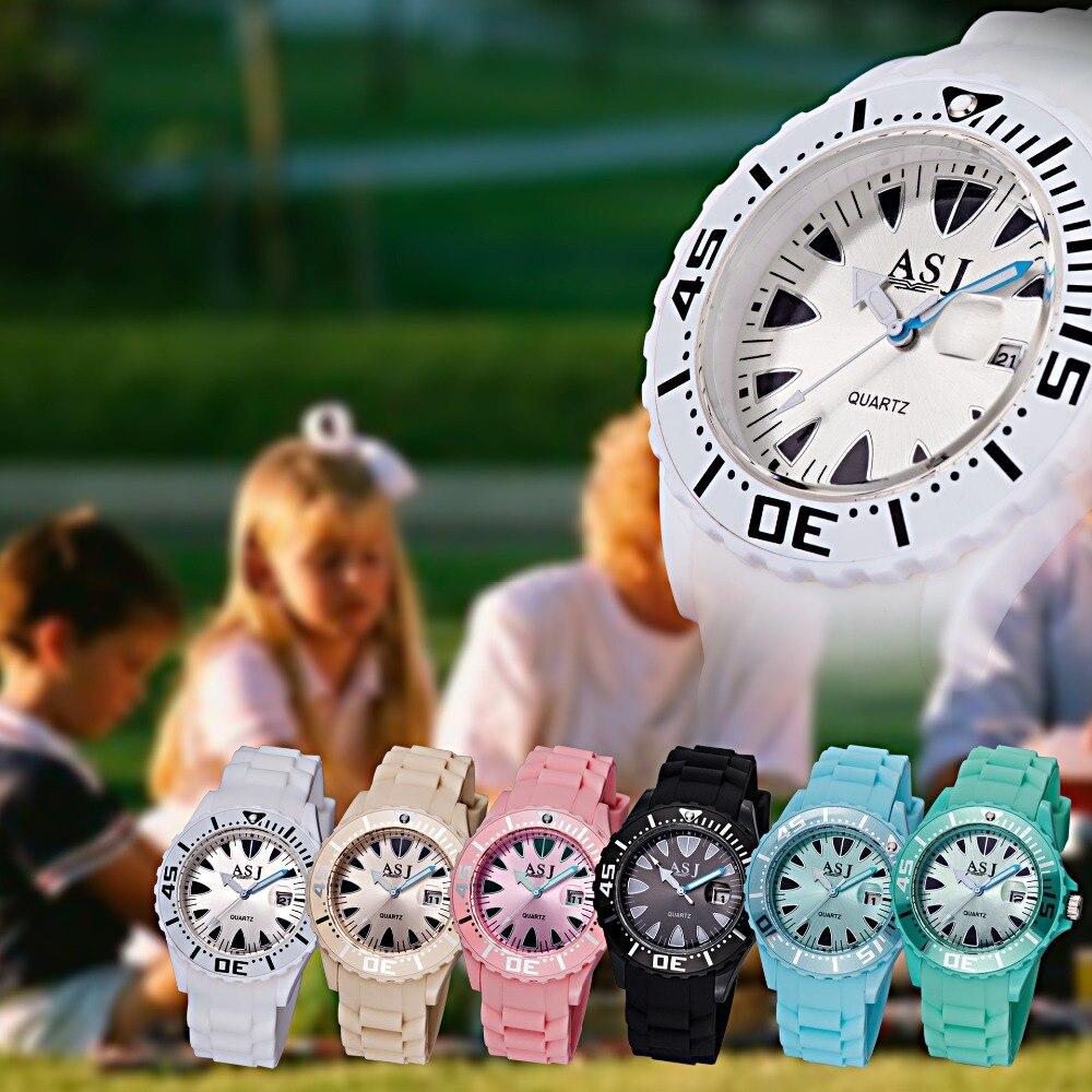 Mode sport enfants montres pour garçons/filles enfants montre étanche Silicone Quartz montres calendrier étudiant horloge cadeau