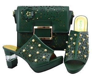 Image 3 - Italya Ayakkabı Ve Çanta!! Afrika ayakkabı ve çanta seti yüksek topuk İtalyan ayakkabı ile uyumlu çanta en çok satan bayanlar eşleşen ayakkabı YM007