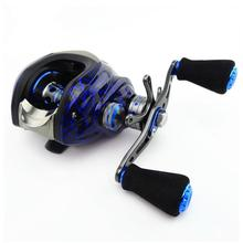 6.3:1 14+1 Ball Bearings Water Drop Wheel Double Brake Right/Left Hand Baitcasting Reel Fishing
