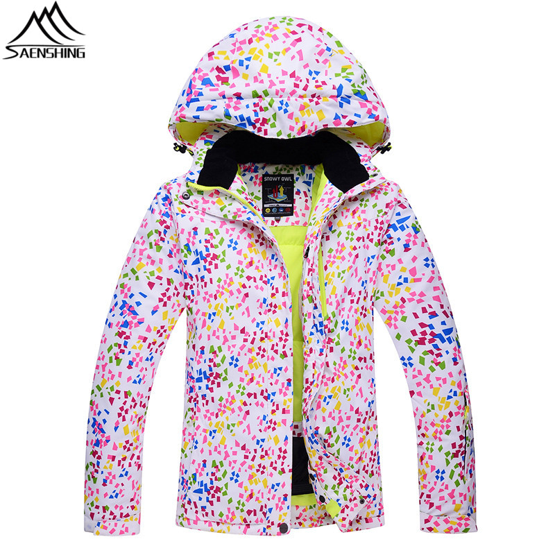 SAENSHING Ski Jacket Women Removable Hood Waterproof Snowboard Jacket Breathable Warm Winter Female Skis Snow Jackets Coat S-XL hot sale women ladies snowboard jacket waterproof breathable ski jacket female winter snow coat sport motorcycle anorak clothes