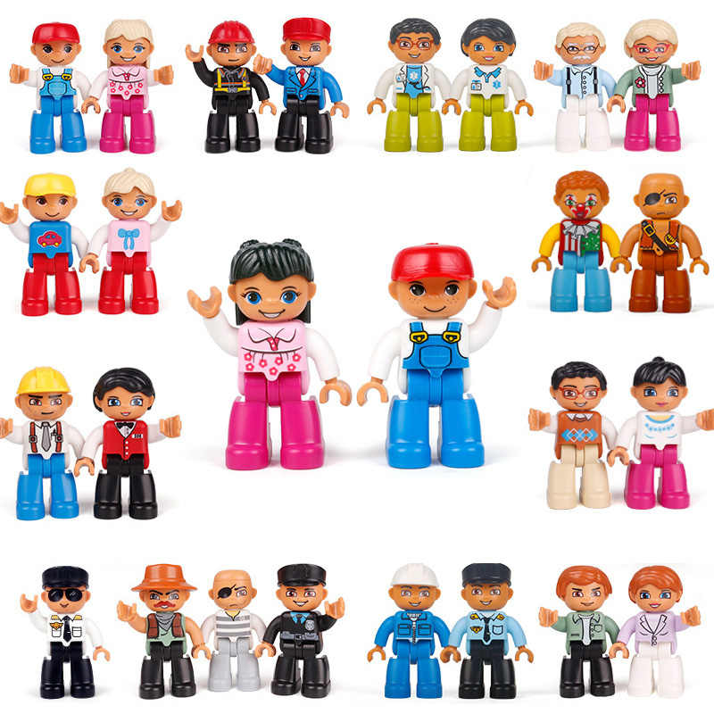 Hot Sale Big Size Family Series Doll Building Blocks Character Compatible With Legoing Duplo Figures Baby Toys For Children