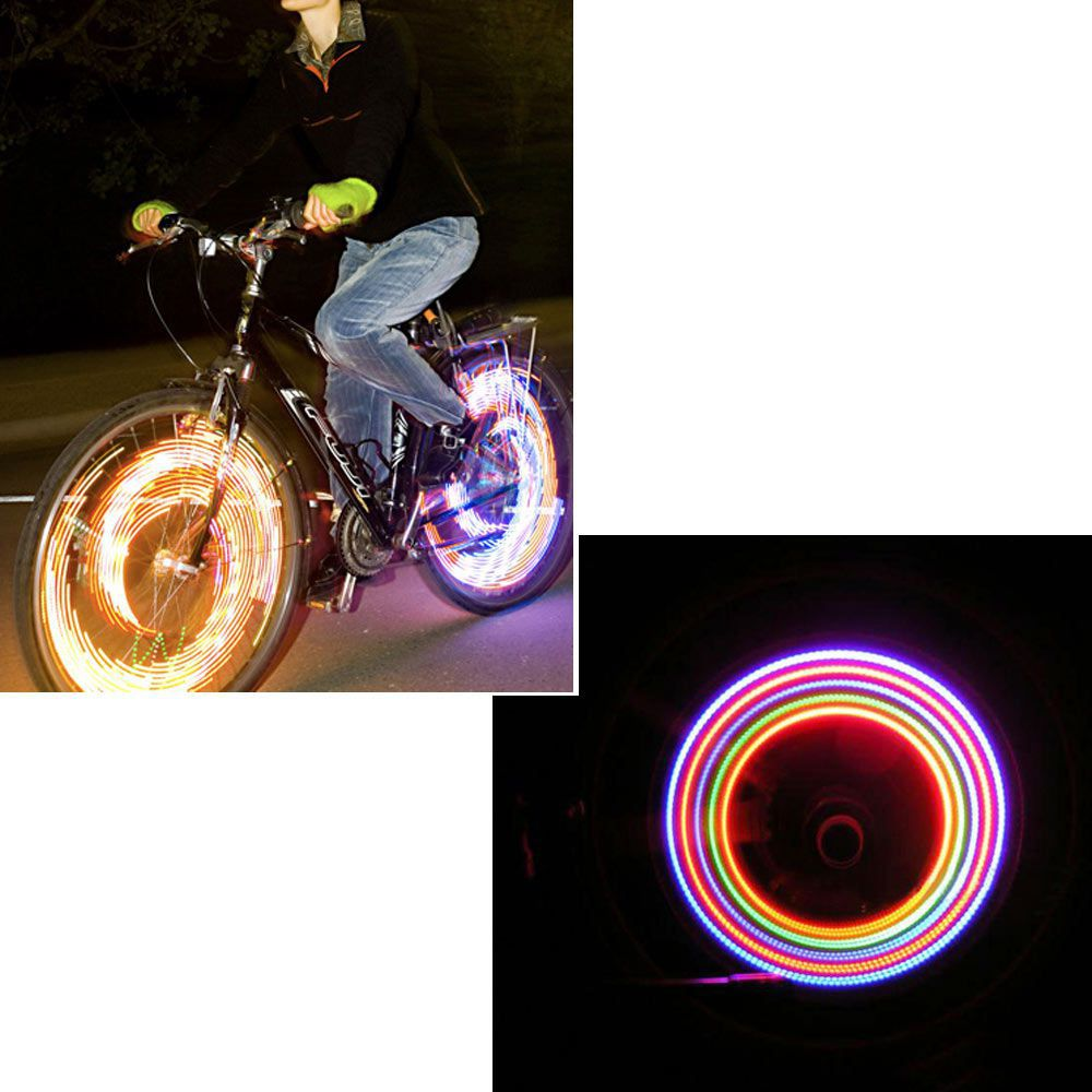 2pcs/1 Pair Bike Bicycle Cycling Car Tyre Wheel Neon Valve Firefly Spoke LED Light Lamp 5 LED Colorful Light Lamp