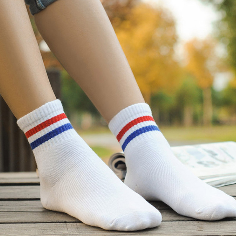 1 Pair New Campus Style Women Girls Cute Striped Cotton Short   Socks   Harajuku Fashion Casual Comfortable Female   Socks