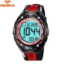 2016 New Arrivals Fashion Student Luminous Sports Watches Children Kids Multifunctional Waterproof LED Digital Wristwatch