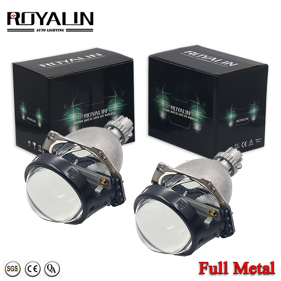 ROYALIN H1 Bi Xenon Headlight Projector For Hella 3R G5 Automobiles H4 H7 Lights Lens Universal Car HB3/4 HID Headlamp Retrofit