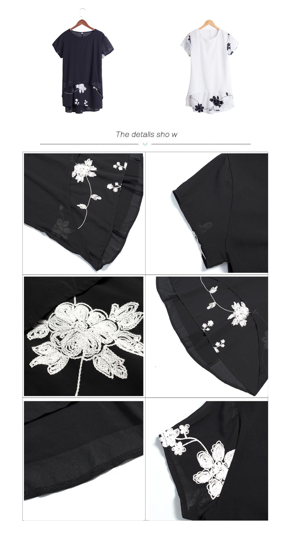 HTB1IyeVRFXXXXXRaXXXq6xXFXXXA - Plus Size 5XL Chiffon Blouse Women Clothing Loose Short Sleeve