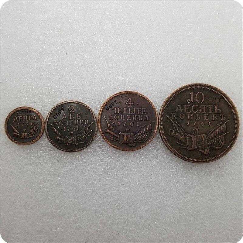 Медные монеты из России 1761, копировальные памятные монеты, Реплика монет, коллекционные монеты
