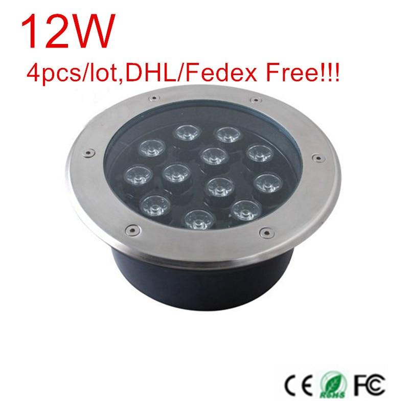 купить 4pcs/lot 12W AC85-265V/DC12V/DC24V LED Outdoor Underground Lamp Waterproof IP67 LED Spot Floor Garden Yard LED underground light недорого