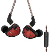 KZ AS10 Moving Iron Detachable Wire In Ear Earphone Stereo Headphone Earbuds with/without Microphone 5BA Red Green headphones