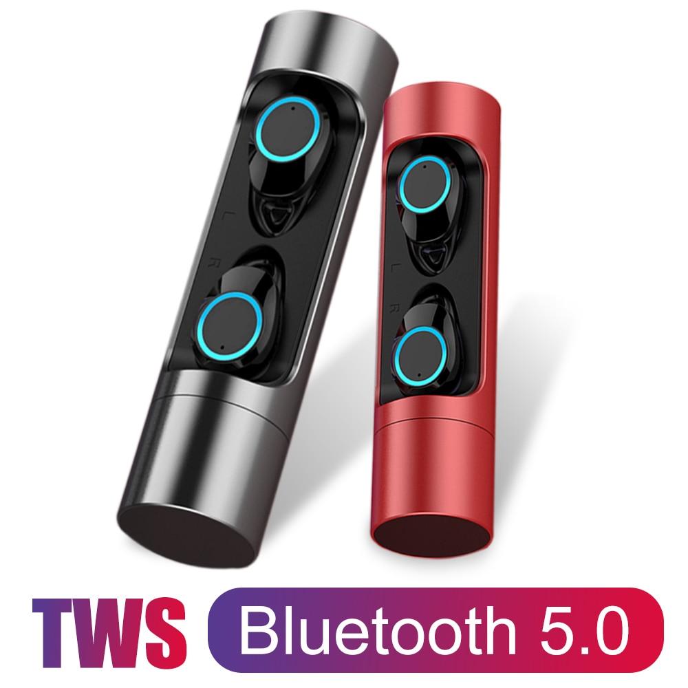 TWS X8 Bluetooth 5.0 écouteurs écouteurs écouteur sans fil tête téléphone avec Microphone Sport natation stéréo sons pour iphone 7 8