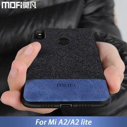For Xiaomi Mi A2 Lite case cover A2 Lite back cover silicone edge shockproof fabric case capas MOFi original Mi A2 case