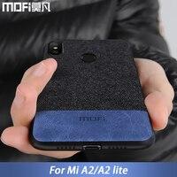 Pour Xiao mi mi A2 Lite cas couverture A2 Lite couverture arrière bord de silicone antichoc tissu cas capas MOFi d'origine mi A2 cas