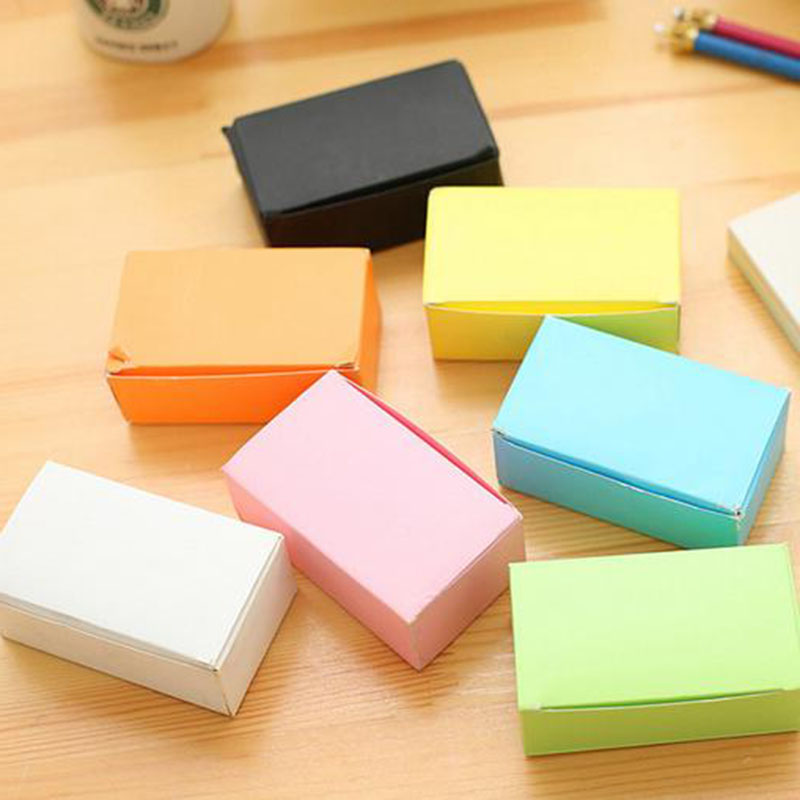100 Pcs/Lot Cute Black White Colors Kraft Paper Memo Pad Note Pads Card Creative Stationery School Supplies Gift Student 3 pcs candy colors sticky notes color smile memo pad post it note paper sticker stationery papelaria material school supplies