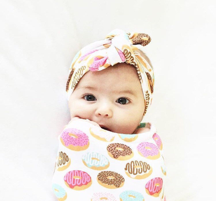 2Pcs-Newborn-Baby-Infant-Cotton-Swaddle-Blanket-Wrap-Sleeping-Bag-Headband-Sleepsack-0-12-2