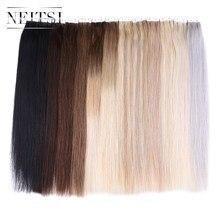 """Neitsi прямо уток кожи волос мини Клейкие ленты в машину сделал Remy Человеческие волосы клей Extension 20 """"2.0 г/локон 10/ 20/40 шт. 13 Цветов"""