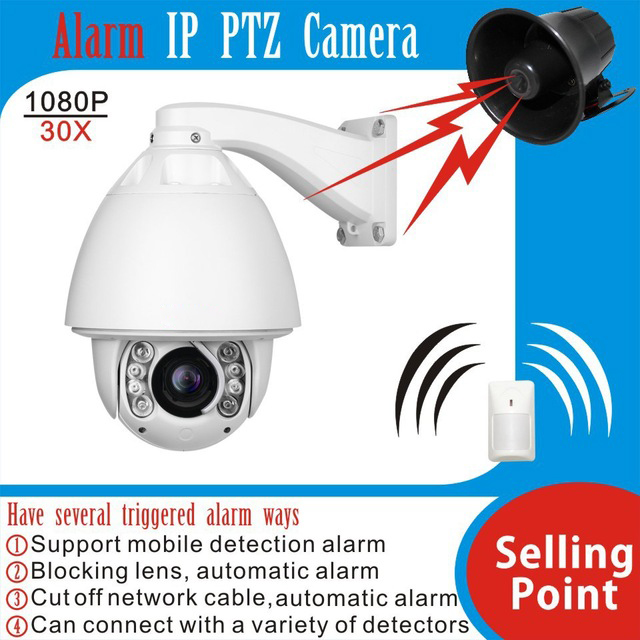 HOT Security camera 1080P high speed dome camera ip 30X zoom outdoor support Audio Alarm waterproof