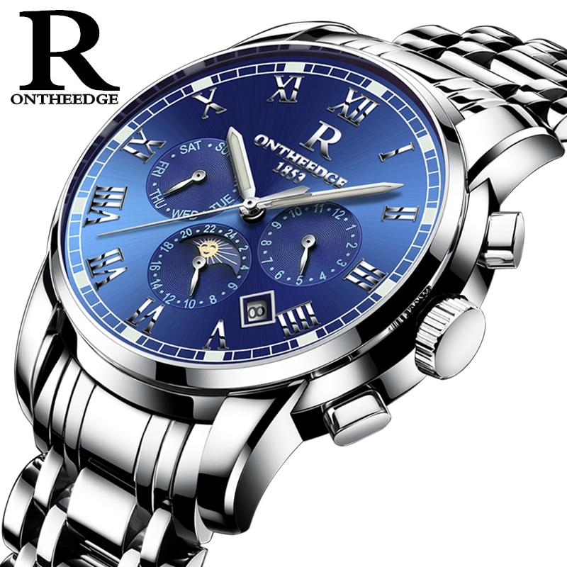 2018 Luxury Brand Mechanical Watch Blue