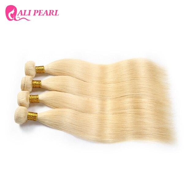 Ali Pearl Hair 1 bundle sale Bleached 613 Blonde Hair Bundles 10-24 Inches Remy Hair 2