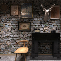 Beibehang 3D Simulation Stone Rock Wallpaper Featured Hotel Clothing Store Bar KTV Realistic Stone Stone Brick