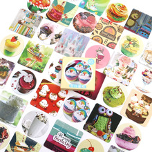 Cute Cake Foods Stickers Travel Decorative Stationery Ocean whale sticker Scrapbooking DIY Diary Album Lable 46pcs/box