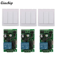 Wall Switch CH Transmitter Module 1 CH Relay Receiver 433MHz RF TX 433MHz RF RX Remote