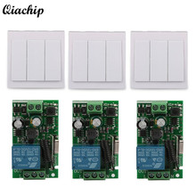 AC 110V 220V 1CH Wireless Remote Control Switch Receiver Wall Panel Transmitter for Smart Home Room Stairway Light LED Bulbs TX