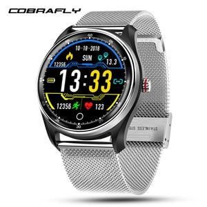 Image 1 - Cobrafly reloj inteligente MX9 para hombre y Monitor de frecuencia cardíaca ECG, pulsera inteligente con control de la presión sanguínea, IP68 para teléfonos Android e Ios
