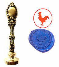 Rooster Custom Logo Luxury Vintage Wax Seal Stamps Kit Wedding Invitation Sealing Stamps