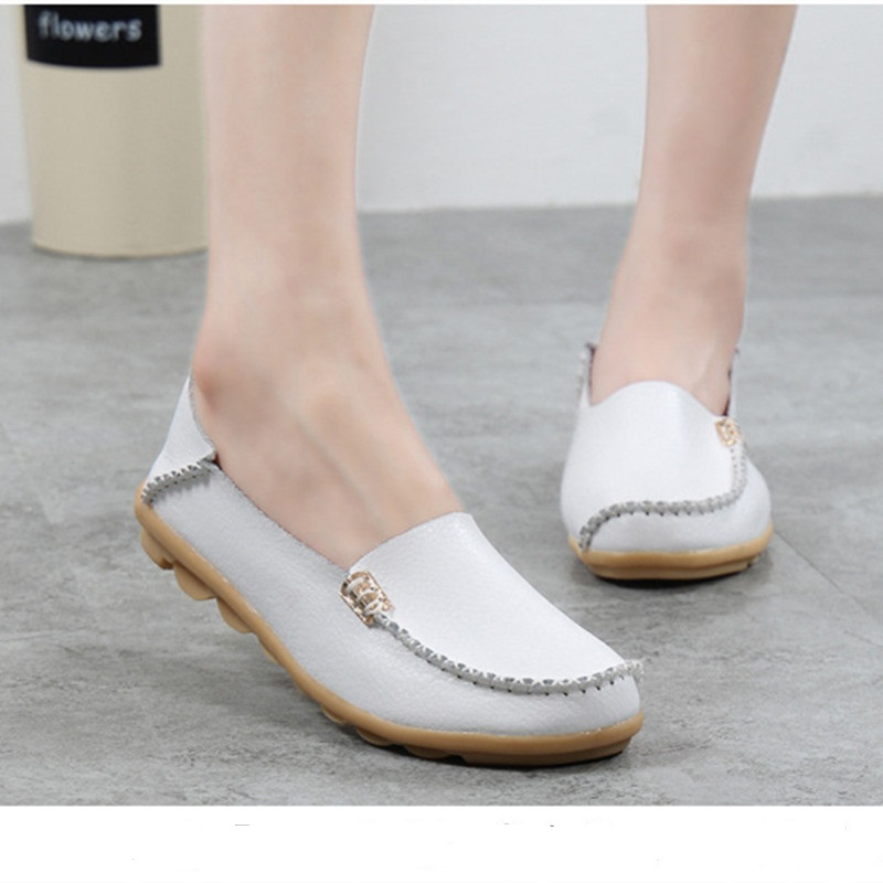 2017 Women leather shoes Fashion women's flats casual comfortable Loafers Soft Women shoes female footwear zapatos mujer SFT432 2017 women leather shoes fashion women s flats casual comfortable loafers soft women shoes female footwear zapatos mujer sft432