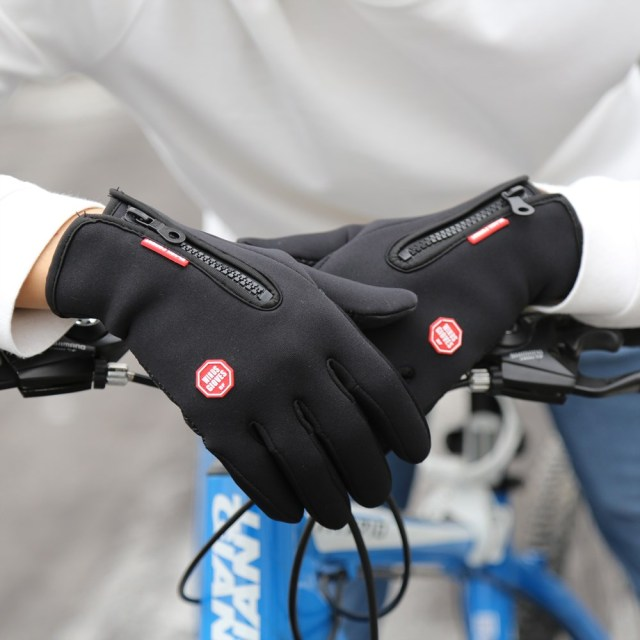 Winter Mens Women Cycling Gloves Anti-slip Motorcycle Windproof Bike Gloves Anti-shock Full Finger Mountain Bicycle Gloves